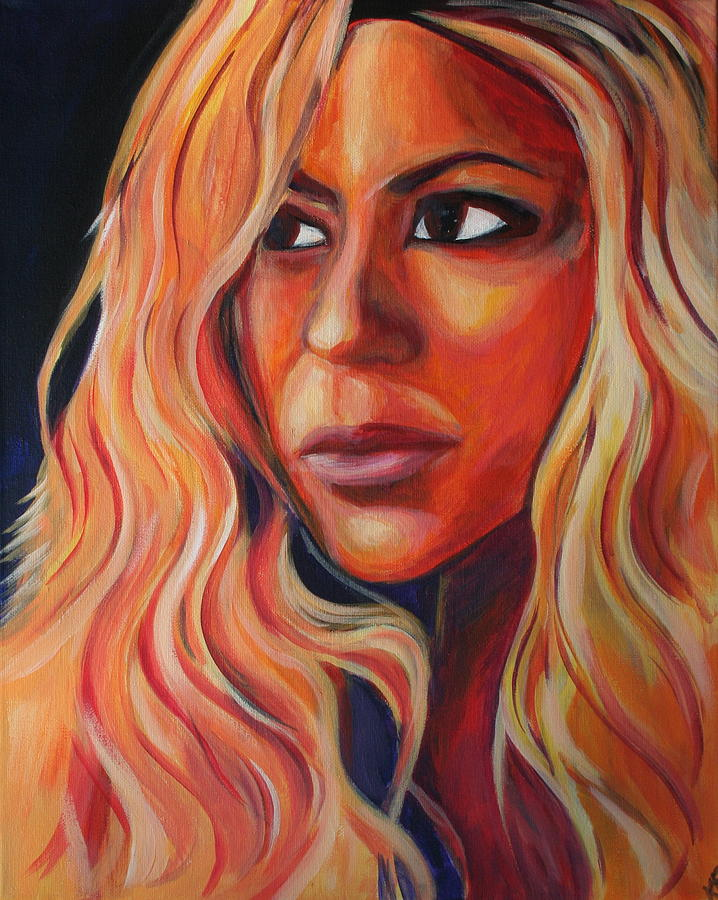 Shakira Painting by Kate Fortin