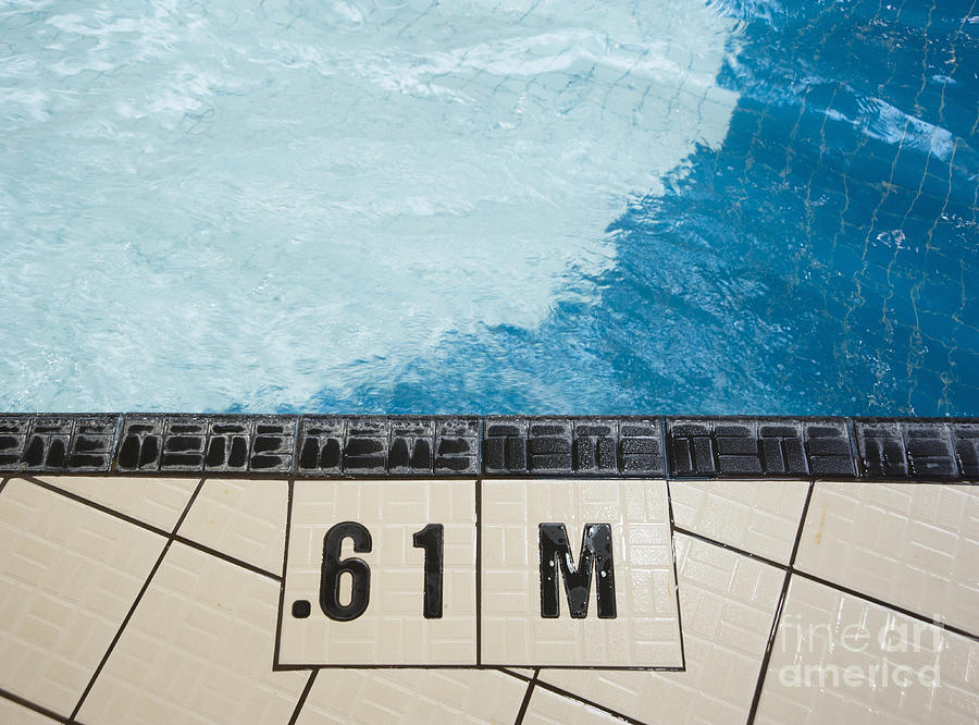 Shallow End Of A Public Swimming Pool Photograph By Marlene Ford