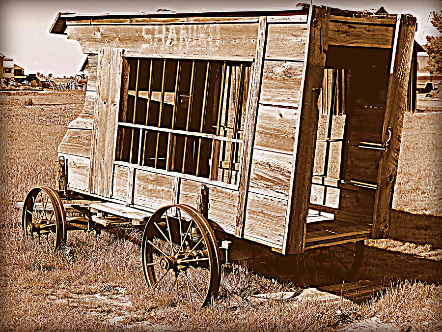 Cindy Wright Photograph - Shaniko Paddy Wagon by Cindy Wright