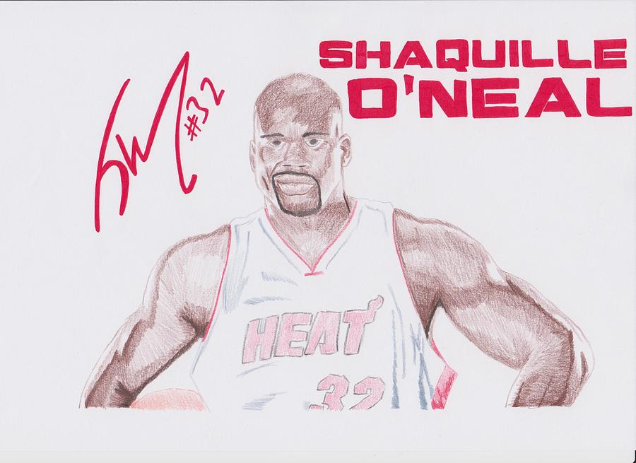 Shaquille Drawing - Shaquille Oneal by Toni Jaso