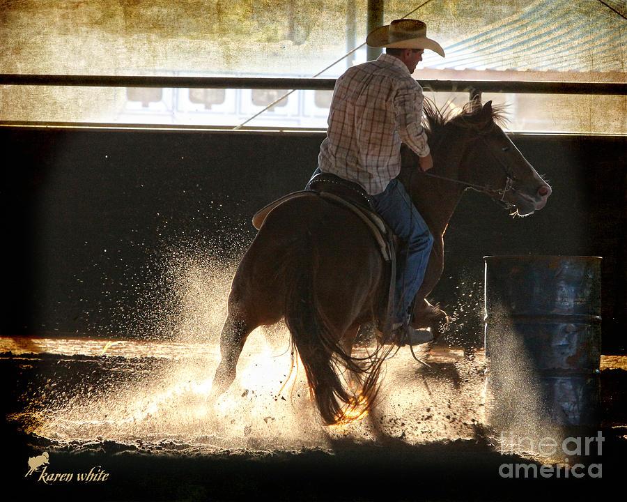 Horse Photograph - Sharp Turn by Karen White