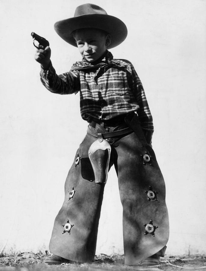Child Photograph - Sharpshooter by Archive Photos