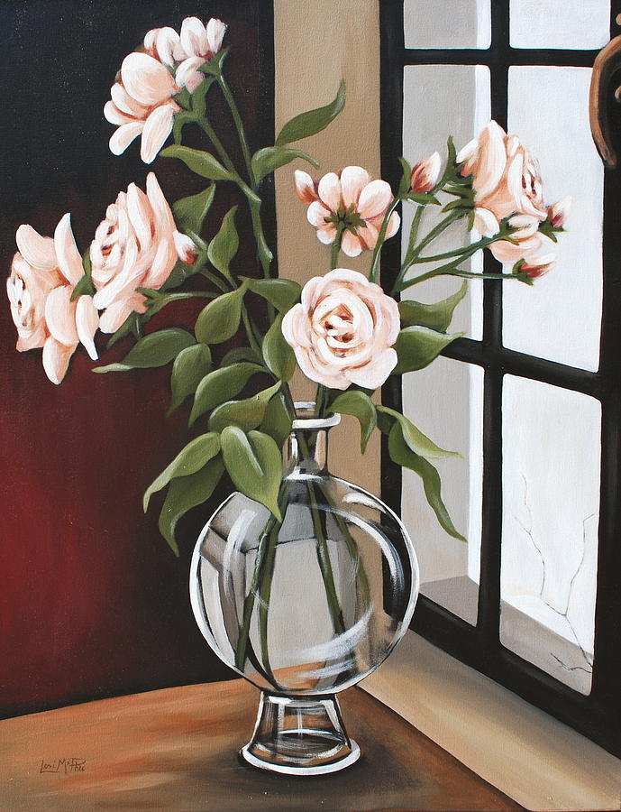 Floral Painting - Shattered Moments by Lori McPhee