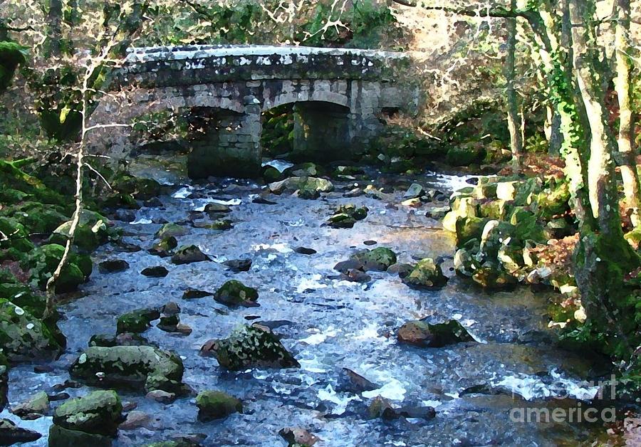 Bridge Digital Art - Shaugh Prior Bridge by Ron Telford