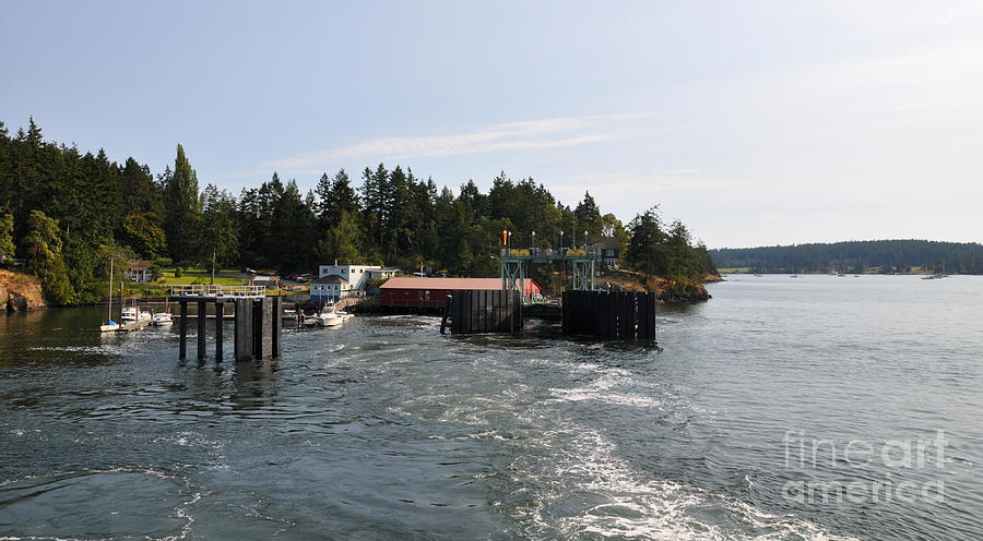 Ferry Photograph - Shaw Island Ferry Terminal  2 by Tanya  Searcy
