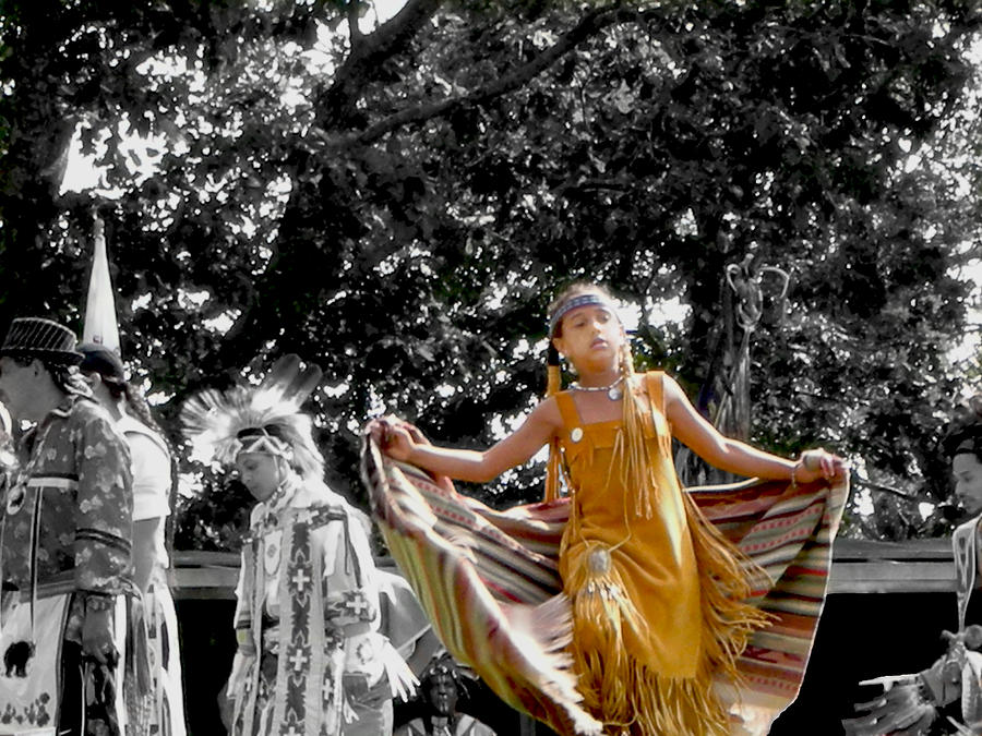 Indigenous Photograph - Shawl Dancer by Cathy Brown