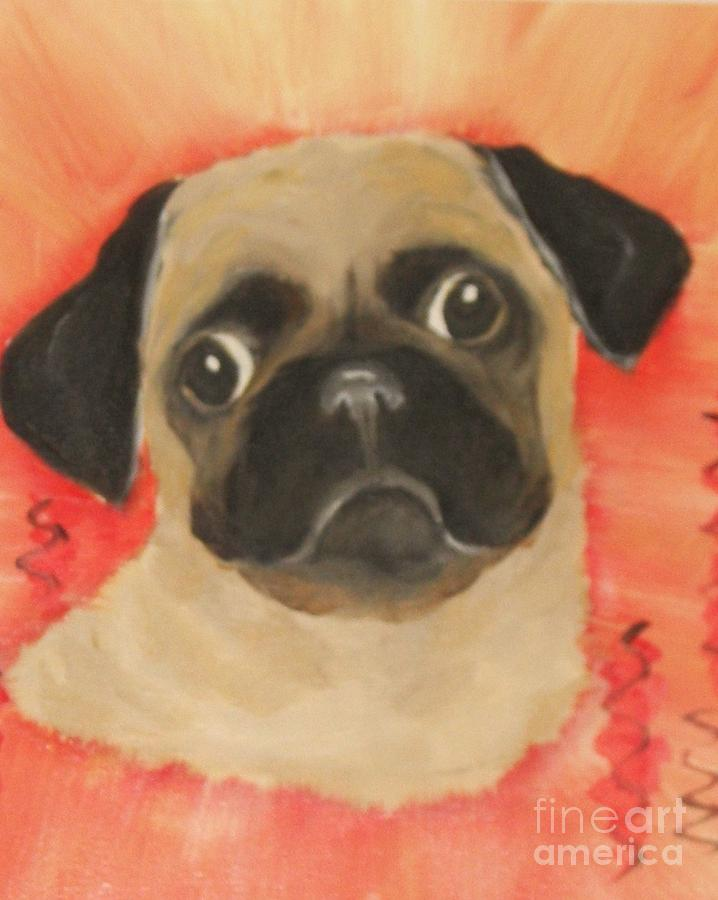 Dogs Painting - She Has Her Eye On You by Rachel Carmichael