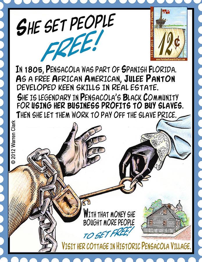 Florida Mixed Media - She Set People Free by Warren Clark