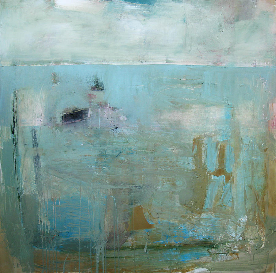 Large Abstract Painting - She Was In The Middle by Brooke Wandall