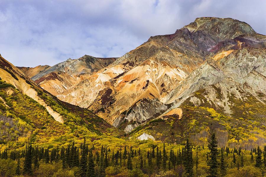 Autumn Photograph - Sheep Mountain Along Glenn Highway by Yves Marcoux
