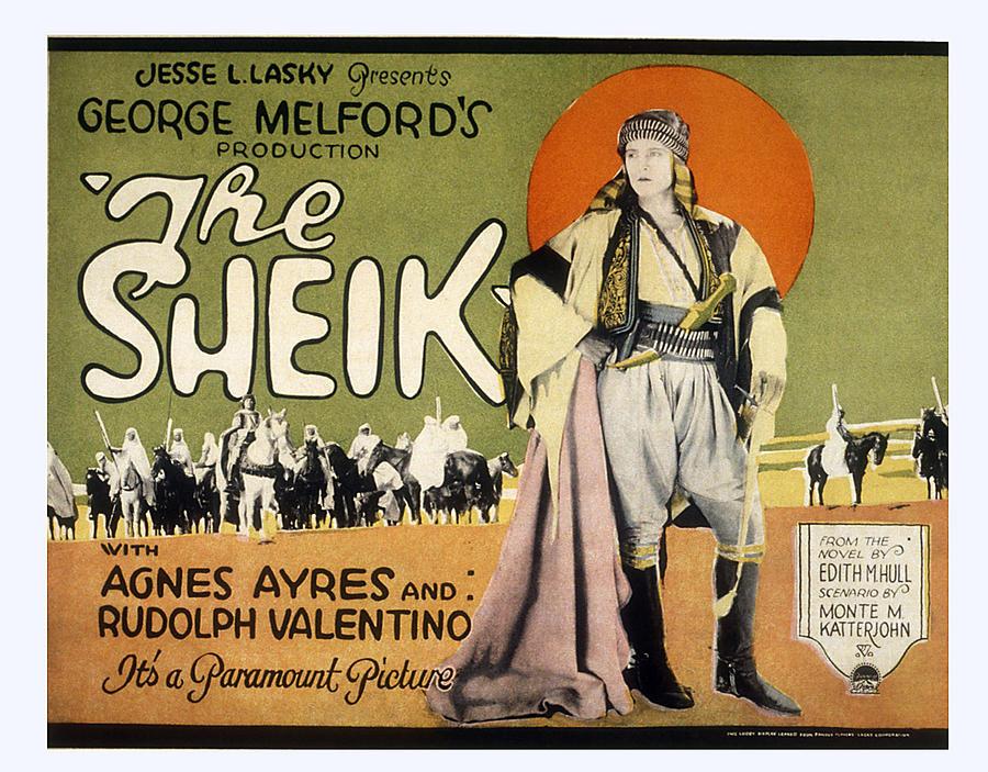 1920s Movies Photograph - Sheik, Rudolph Valentino, 1921 by Everett