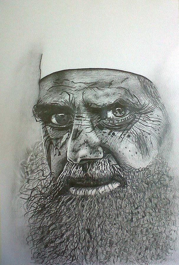 Learned Drawing - Sheikh I. by Paula Steffensen