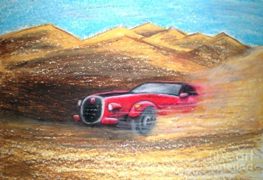 Car Pastel - Sheikhs Dirt Racer by C Ballal