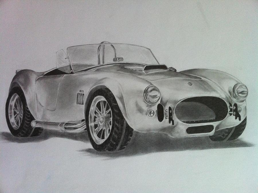 Cars Drawing - Shelby Cobra by Aaron Mayfield