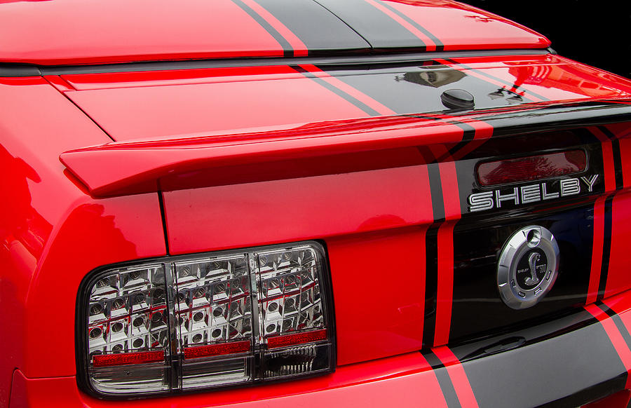 Ford Mustang Photograph - Shelby Gt500 Convertible by Roger Mullenhour