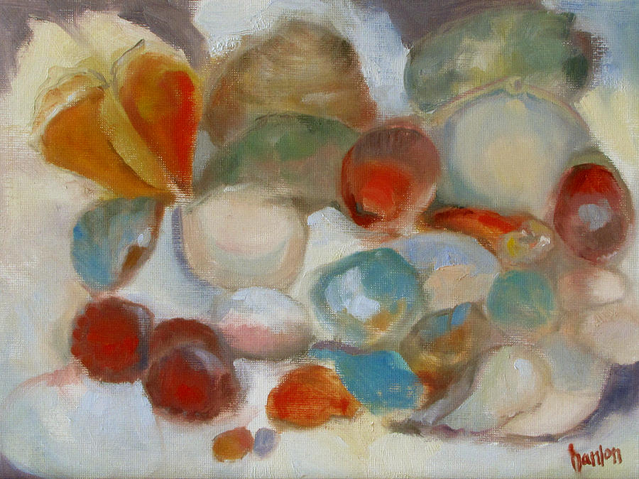 Dog Painting - Shell Impression IIi by Susan Hanlon