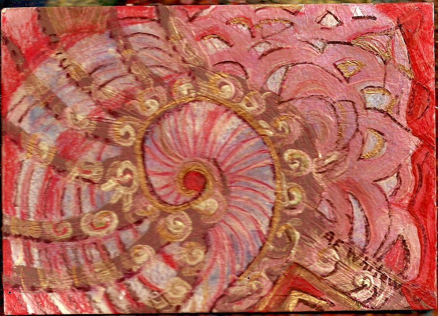 Shell Painting - Shell Sensation by Anne-Elizabeth Whiteway