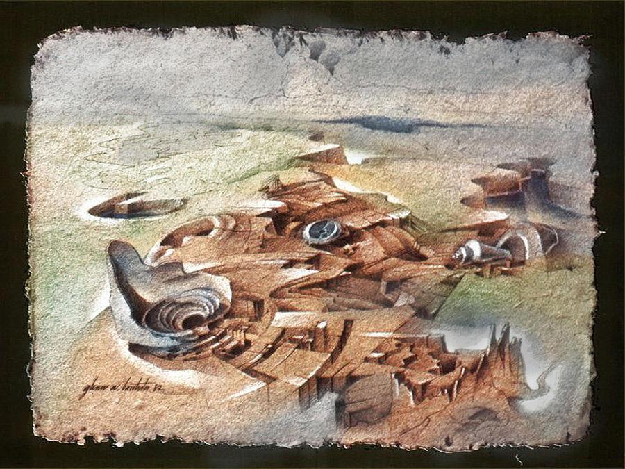Shells Drawing - Shellscape 1982 by Glenn Bautista