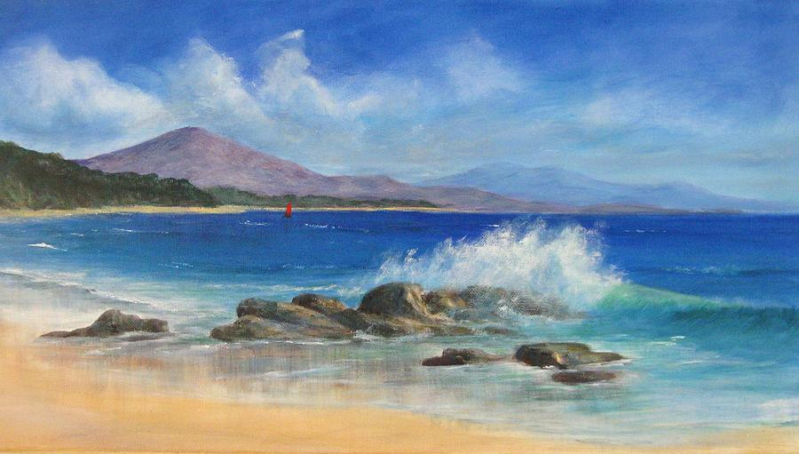 Seascape Painting - Shelly Beach by Rita Palm