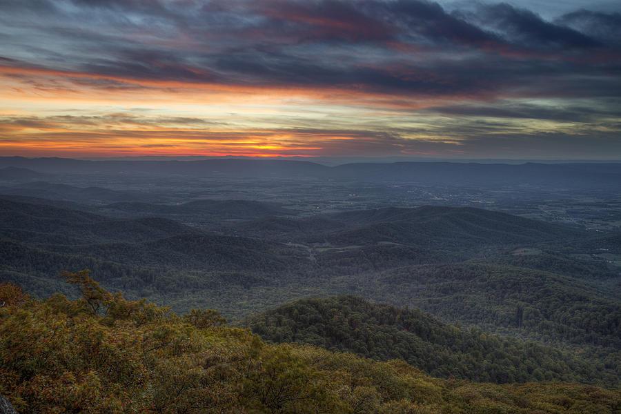Shenandoah Photograph - Shenandoah Sunset by Pierre Leclerc Photography