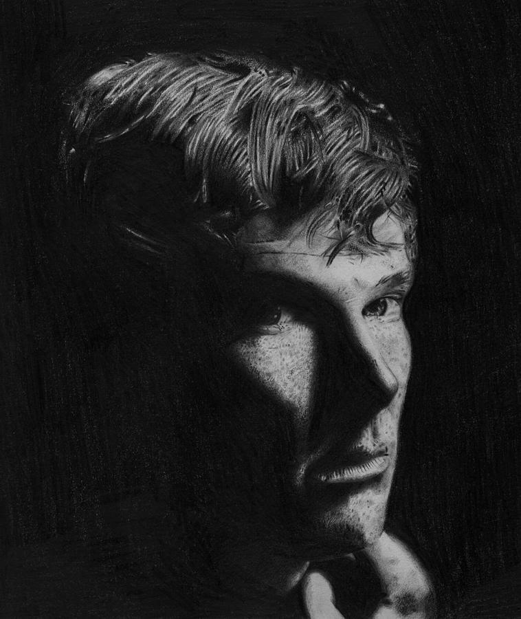 Drawing Pencil Sherlock Portrait Drawing - Sherlock by Chris Baggott