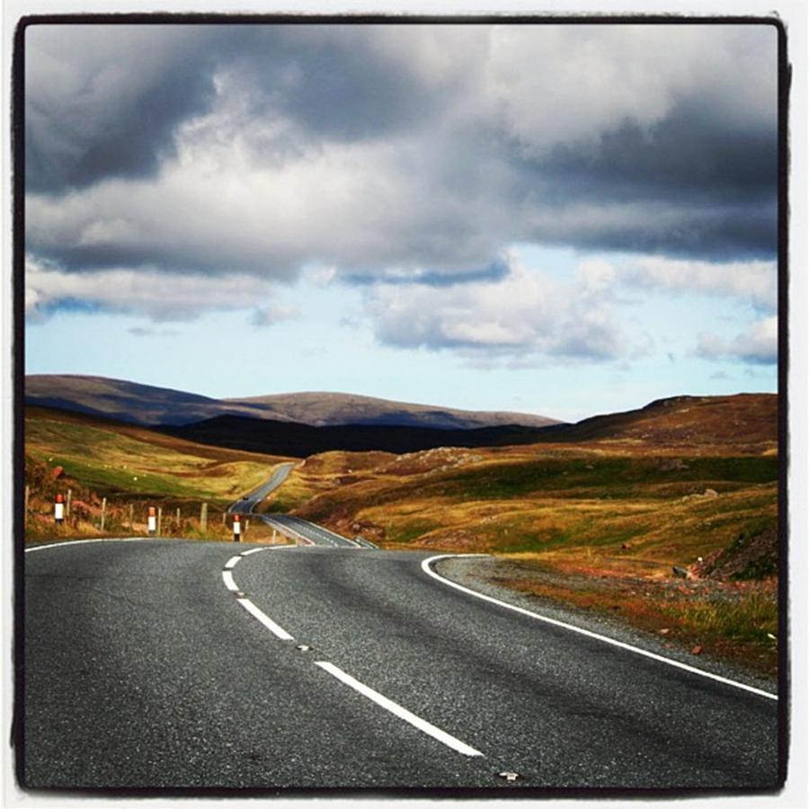 Scotland Photograph - Shetlands Road by Luisa Azzolini