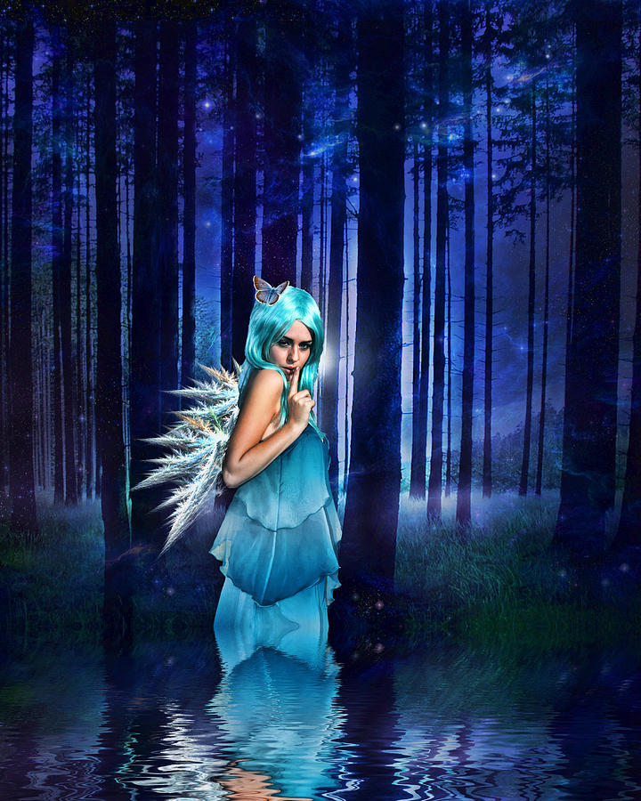Fairies Digital Art - Shhhhh We Exist by Sharon Lisa Clarke