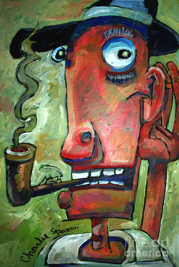 Cricket Painting - Shhhhhhhh by Charlie Spear