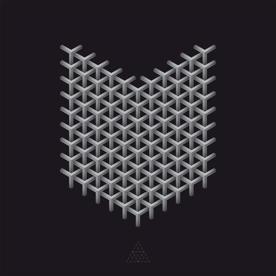 Hexagon Digital Art - Shield Matrix Optic V17.1 by Guardians of the Future