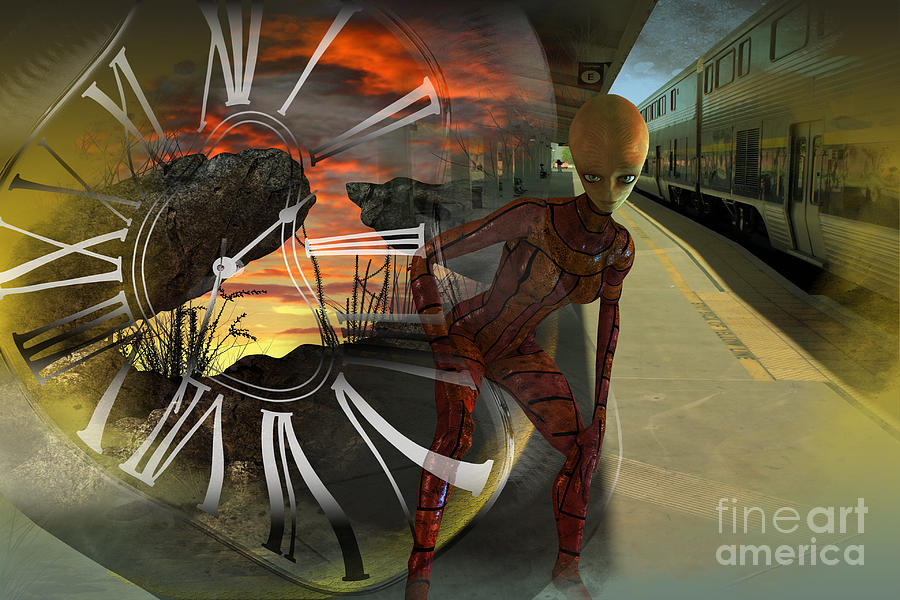Train Digital Art - Shifting Dimensions by Shadowlea Is