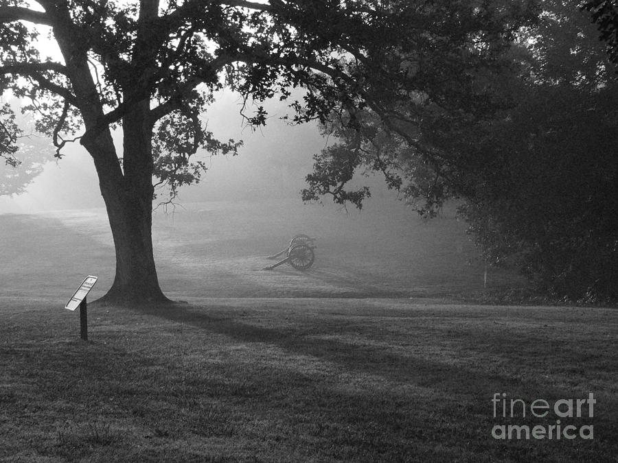Shiloh Photograph - Shiloh In The Fog by David Bearden