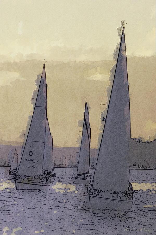 Boating Photograph - Shilshoe Marina Races 2 by Arthur Kuntz