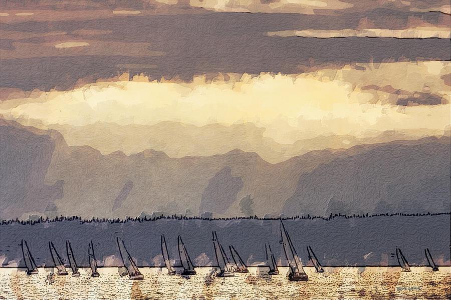 Sailing Photograph - Shilshoe Marina Races 3 by Arthur Kuntz