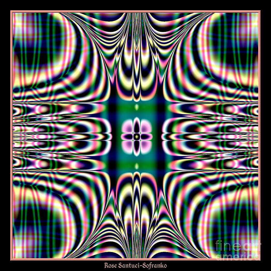 Plaids Digital Art - Shimmering Plaid Fractal 66 by Rose Santuci-Sofranko