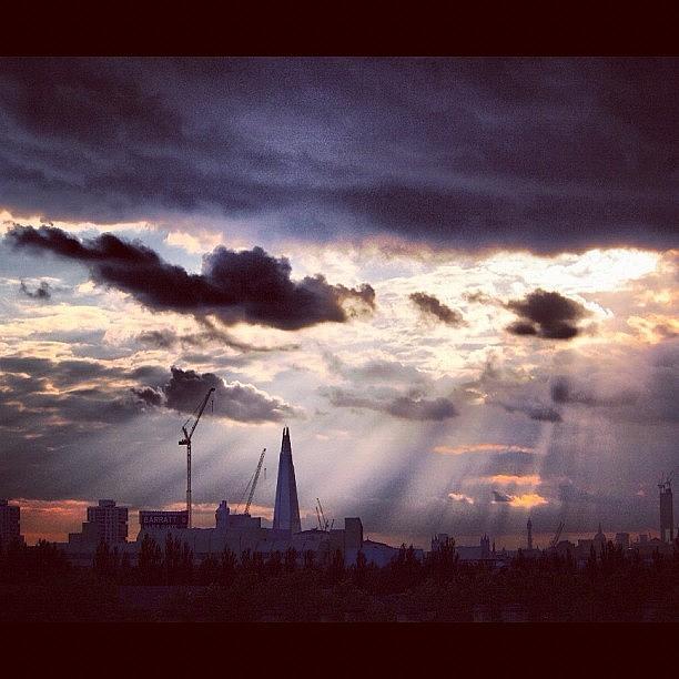 London Photograph - Shine A Light : London Skyline #sky by Neil Andrews