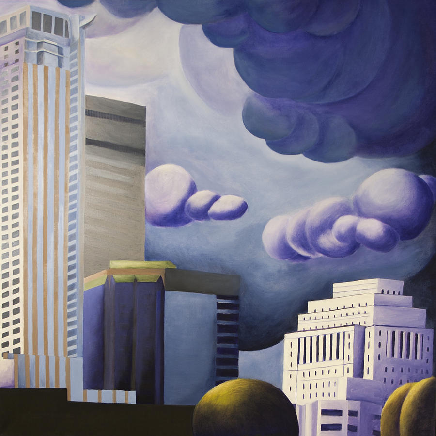 Sun Life Building Painting - Shining by Duane Gordon