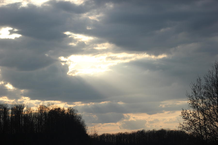 Sky Photograph - Shining Through by Static Studios