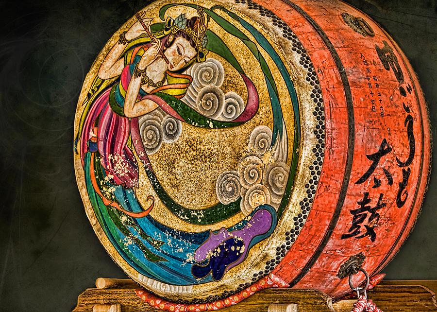 Drum Photograph - Shinto Drum by Karen Walzer