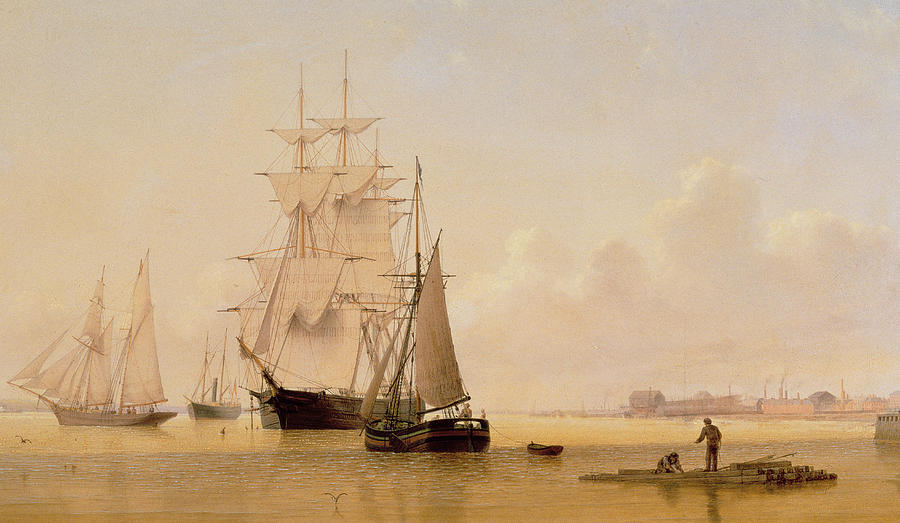 Boat Painting - Ship Painting by WF Settle