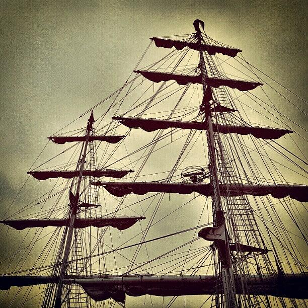 Clouds Photograph - Ship Sales #sales #sky #clouds #wood by Invisible Man