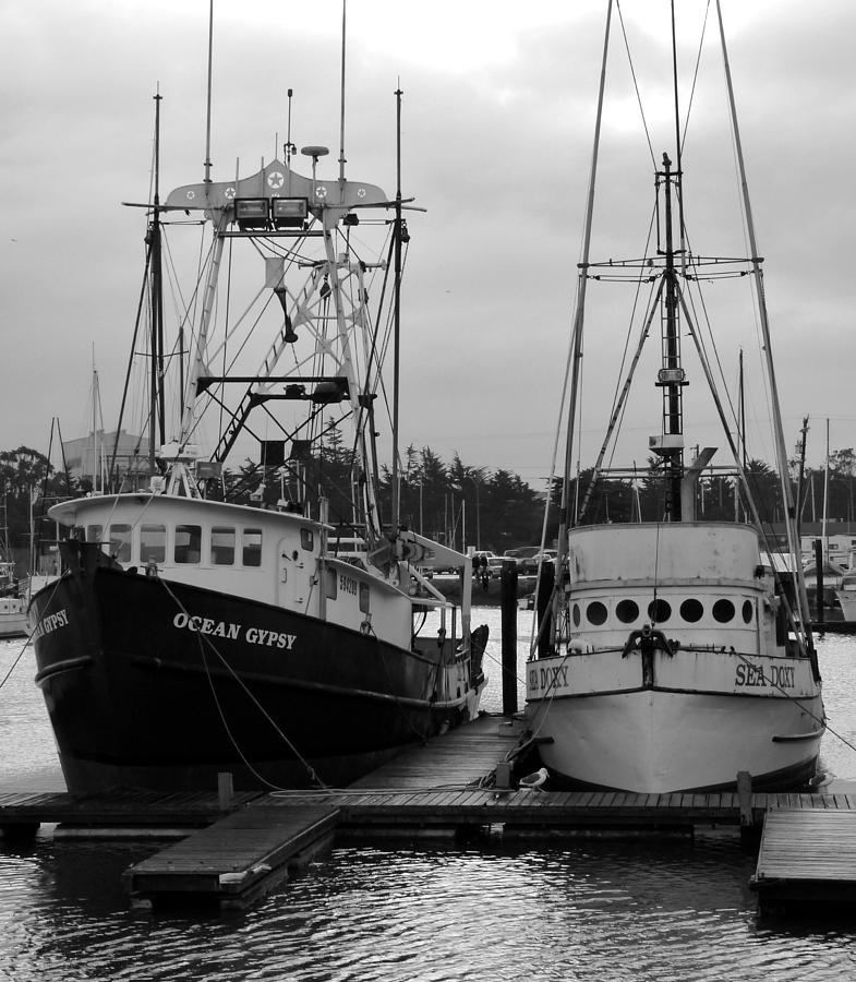 Dock Photograph - Ships At Anchor by Jeff Lowe