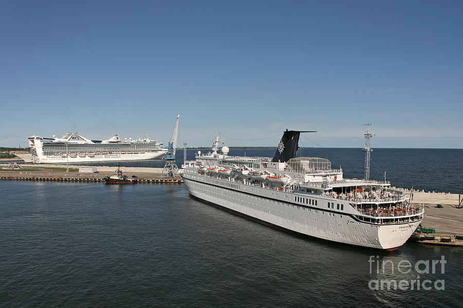 Architecture Photograph - Ships At Port by Jaak Nilson