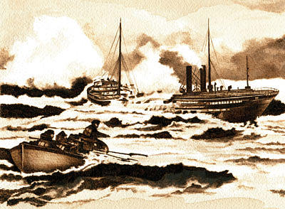 Nautical Drawing - Shipwrecked by Cate McCauley