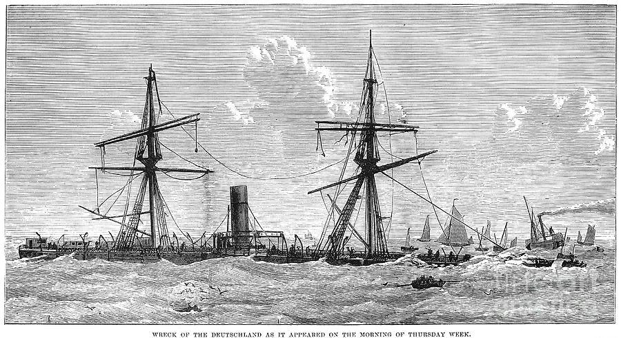 1875 Photograph - Shipwrecks, 1875 by Granger