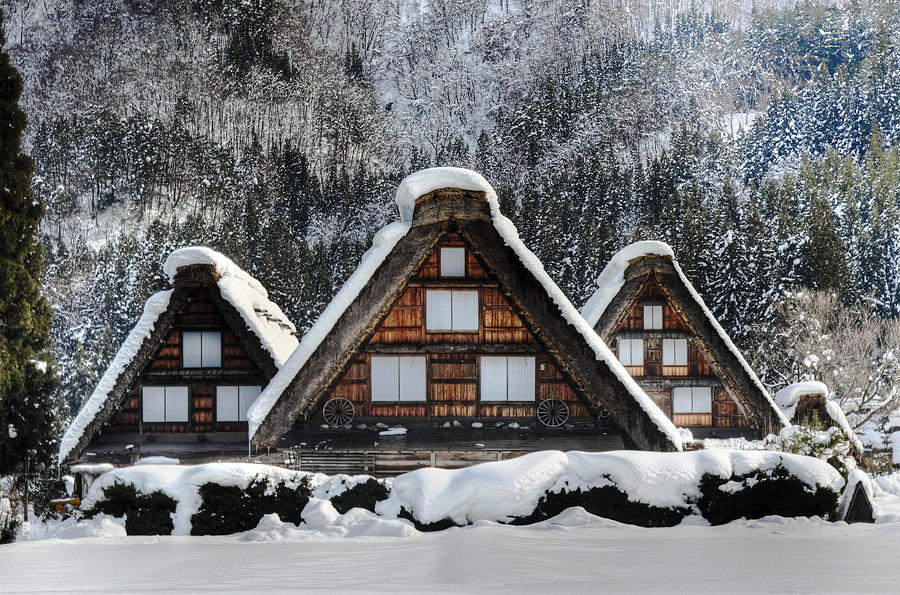 Snow Photograph - Shirakawago by Kean Poh Chua