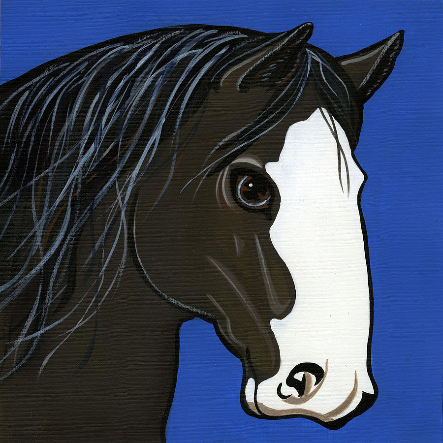 Shire Horse Painting - Shire by Leanne Wilkes