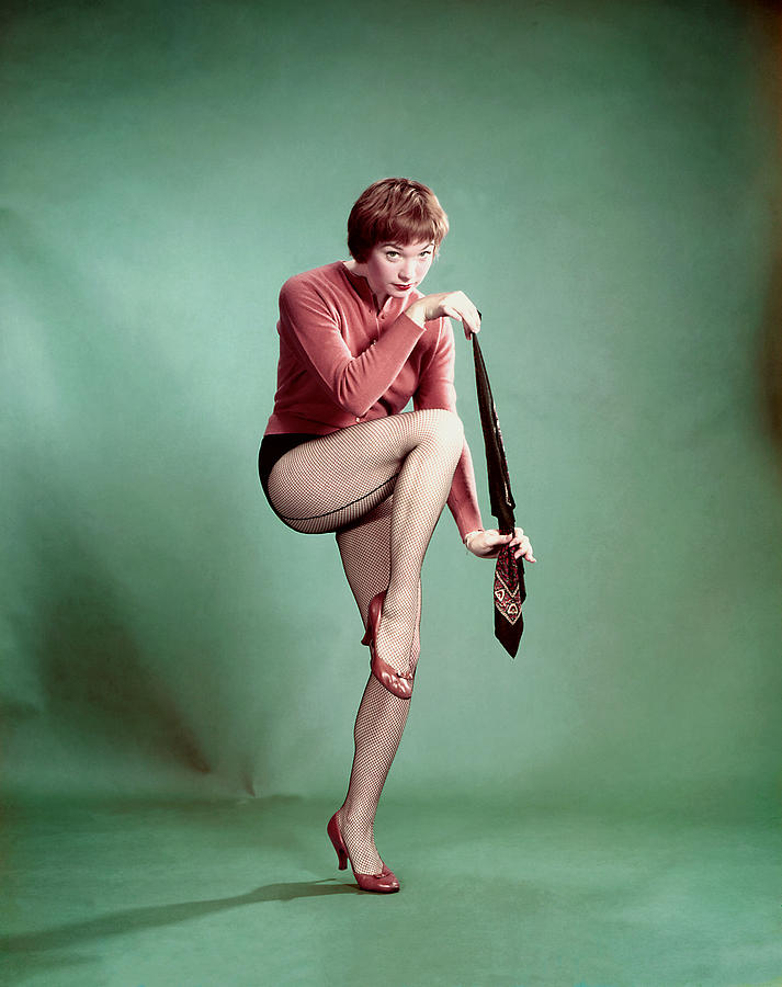 Cardigan Photograph - Shirley Maclaine, 1958 by Everett