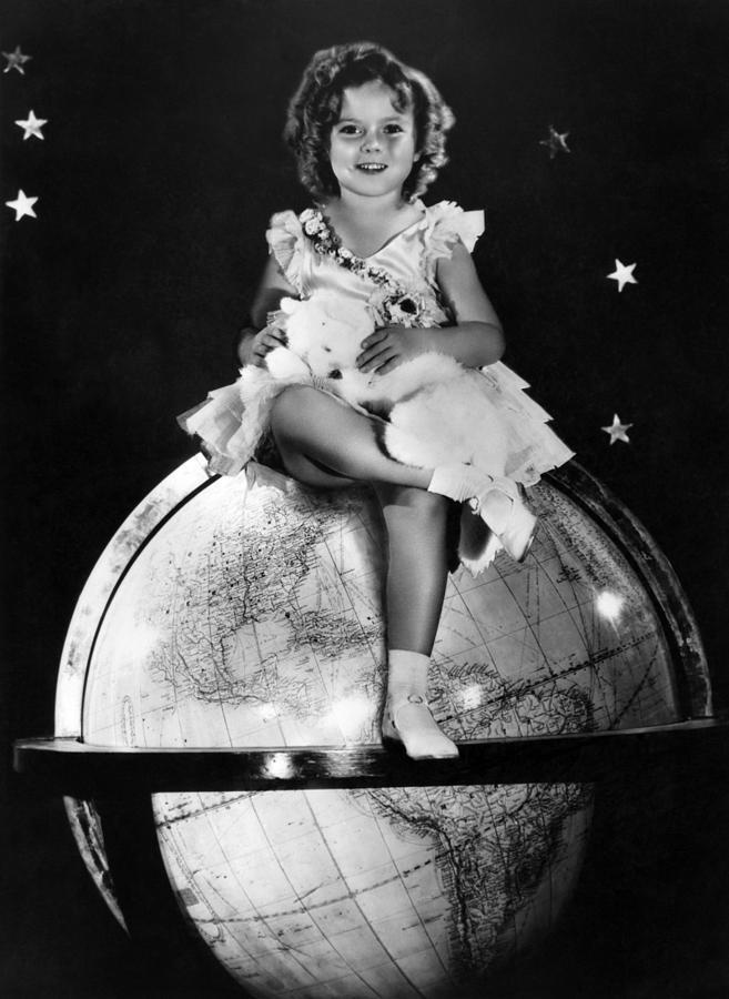 1930s Portraits Photograph - Shirley Temple, Fox Film Portrait, Ca by Everett