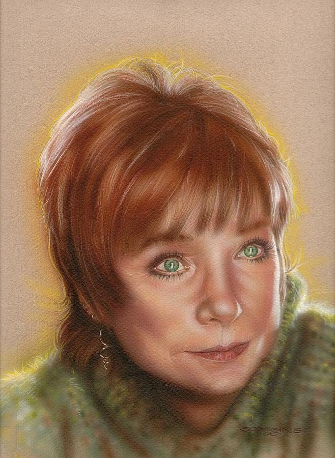 Celebrities Painting - Shirley by Timothy Scoggins