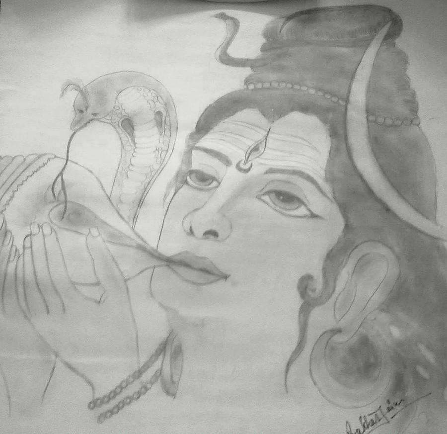 Shiva Drawing by Prakhar Jain